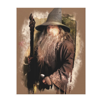 Gandalf With Staff Gallery Wrapped Canvas