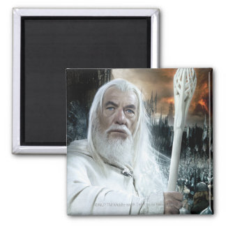 Gandalf with Staff 2 Inch Square Magnet