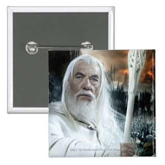 Gandalf with Staff Pinback Button