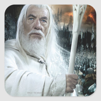 Gandalf with Staff Square Stickers
