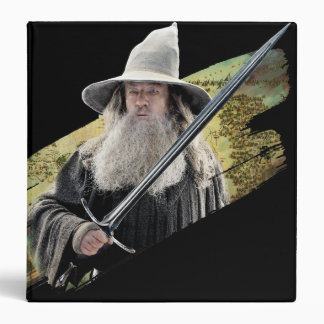 Gandalf With Sword Green 3 Ring Binder