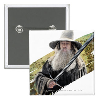 Gandalf With Sword Green Pin