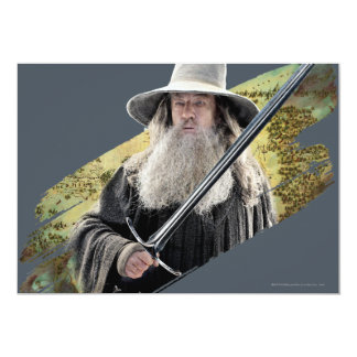 Gandalf With Sword Green Personalized Announcement