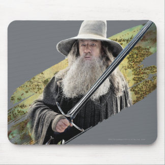 Gandalf With Sword Green Mouse Pad