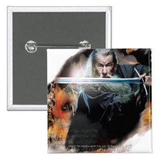 Gandalf With Sword In Battle Pins