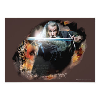 Gandalf With Sword In Battle Card