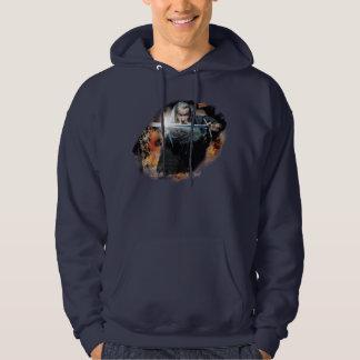 Gandalf With Sword In Battle Hooded Sweatshirt