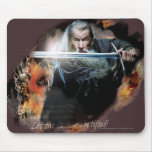 Gandalf With Sword In Battle Mouse Pad