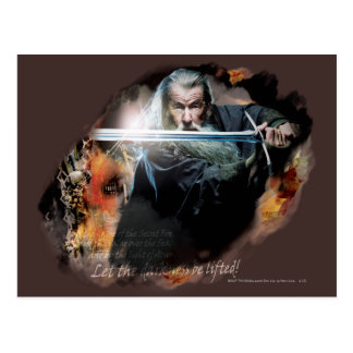 Gandalf With Sword In Battle Postcard