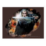 Gandalf With Sword In Battle Postcards