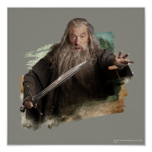 Gandalf With Sword Poster