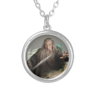 Gandalf With Sword Round Pendant Necklace