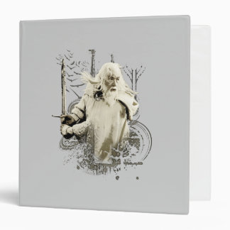 Gandalf with Sword Vector Collage 3 Ring Binders