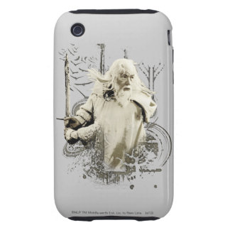 Gandalf with Sword Vector Collage iPhone 3 Tough Covers