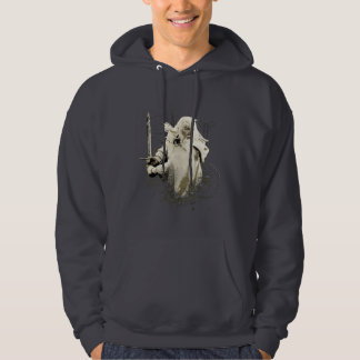 Gandalf with Sword Vector Collage Hoodie