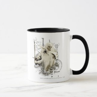 Gandalf with Sword Vector Collage Mug