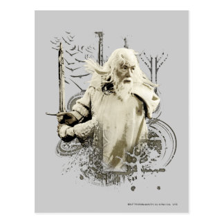 Gandalf with Sword Vector Collage Post Cards