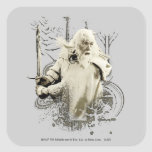 Gandalf with Sword Vector Collage Square Stickers