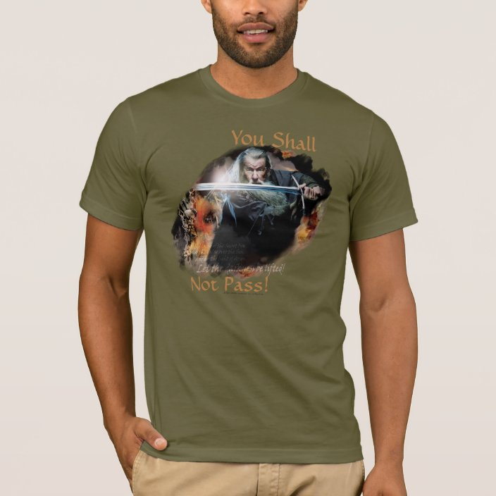 You Shall Not Pass Adult Ringer T Shirt S Lor