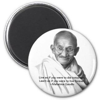 Gandhi 2 Inch Round Magnet