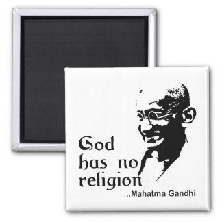 Gandhi 2 Inch Square Magnet
