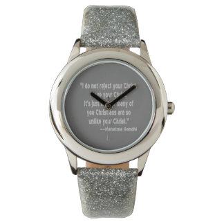 Gandhi and Christians Wristwatch