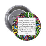 Gandhi Animal Quote Buttons