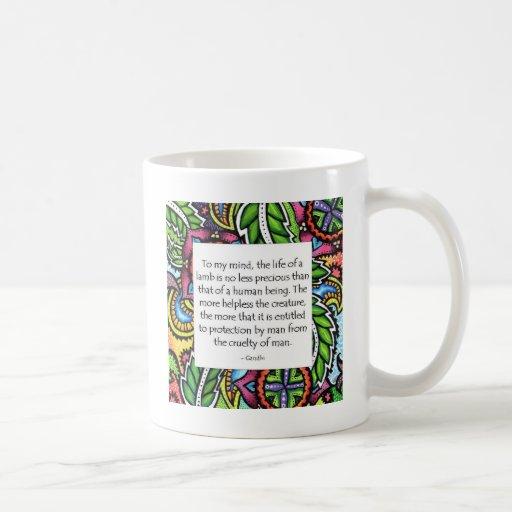 Gandhi Animal Quote Classic White Coffee Mug