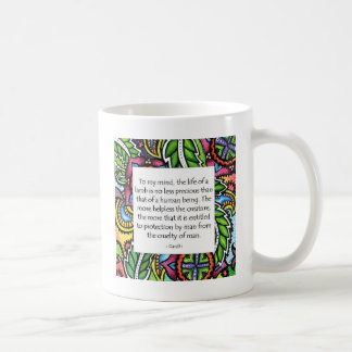 Gandhi Animal Quote Coffee Mug