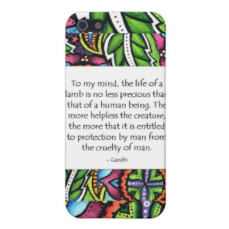 Gandhi Animal Quote Covers For iPhone 5