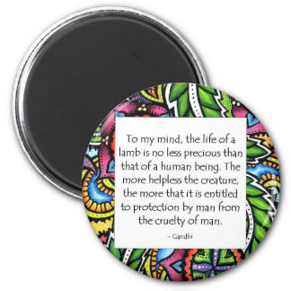 Gandhi Animal Quote Magnet