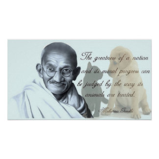 Gandhi animal quote posters