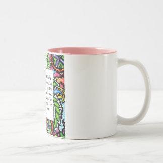 Gandhi Animal Quote Two-Tone Coffee Mug