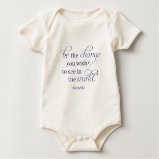 Gandhi: Be the Change Baby Bodysuit