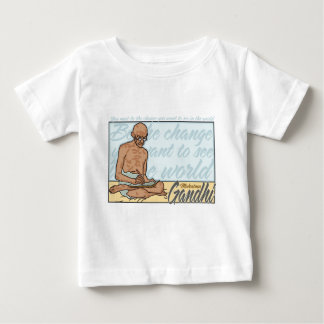Gandhi Be The Change Quote Baby T-Shirt