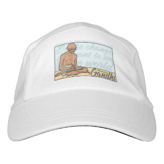 Gandhi Be The Change Quote Headsweats Hat