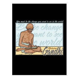 Gandhi Be The Change Quote Postcard