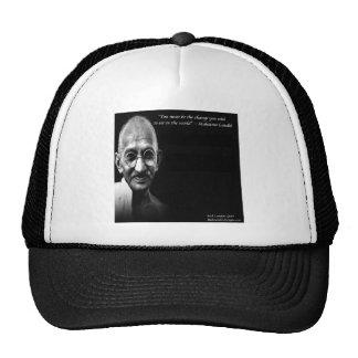 Gandhi Be The Change Wisdom Quote Hat