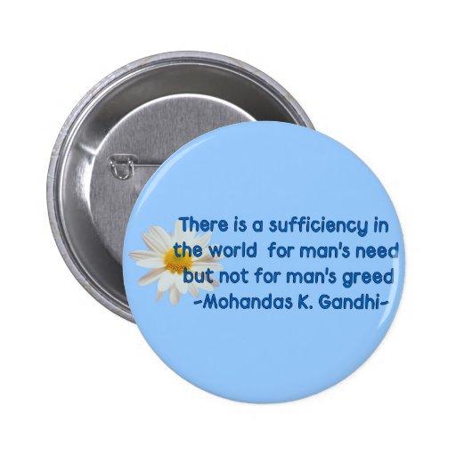 Gandhi Earth Quote 2 Inch Round Button