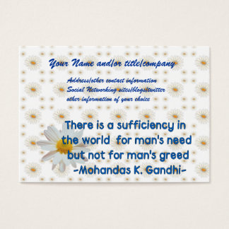 Gandhi Earth Quote Business Card