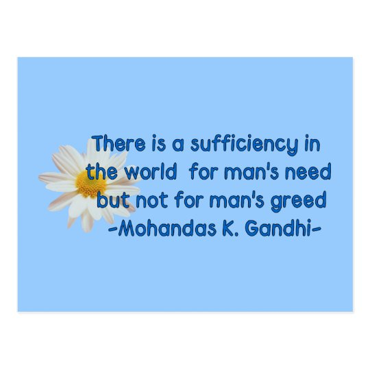 Gandhi Earth Quote Postcard