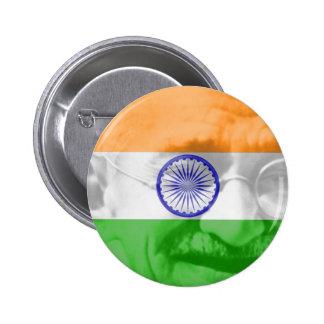 Gandhi en bandera india pin