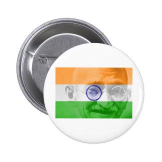 Gandhi en bandera india pins