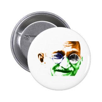 Gandhi en bandera india sutil pins