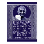 Gandhi en causas postal