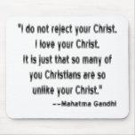 Gandhi en cristianos tapete de ratones