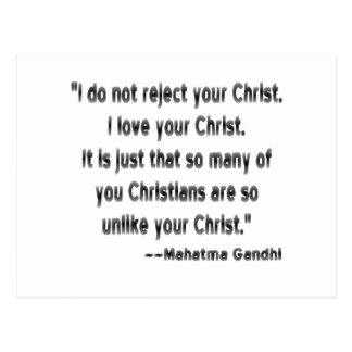 Gandhi en cristianos tarjetas postales