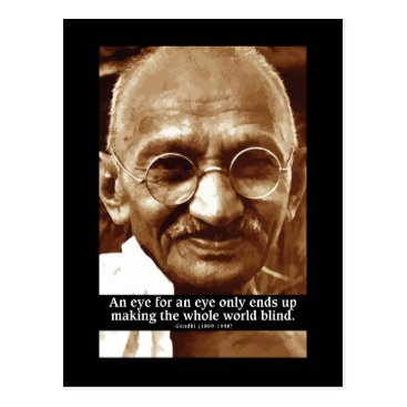 wordstolivebydesign Gandhi 'Eye for an eye' wisdom quote postcard