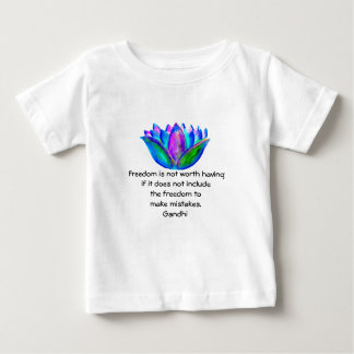 Gandhi Freedom Quote With Lotus Blossom Photo Baby T-Shirt