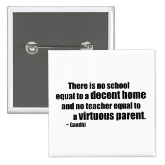 Gandhi Homeschool Pinback Button